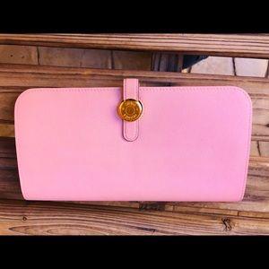 Preloved Hermes Dogon Wallet Rose Pink Calfskin
